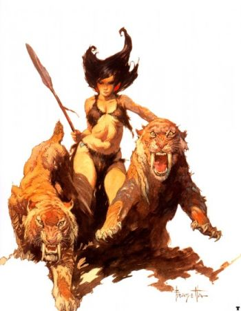 SAVAGE PELLUCIDAR, 1964 (He did other versions, apparently.)